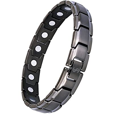 Elegant Titanium Magnetic Therapy Bracelet Pain Relief for Arthritis and Carpal Tunnel (Gunmetal Gray) - 4003730 , B01MYYLZ61 , 454_B01MYYLZ61 , 41.95 , Elegant-Titanium-Magnetic-Therapy-Bracelet-Pain-Relief-for-Arthritis-and-Carpal-Tunnel-Gunmetal-Gray-454_B01MYYLZ61 , usexpress.vn , Elegant Titanium Magnetic Therapy Bracelet Pain Relief for Arthritis