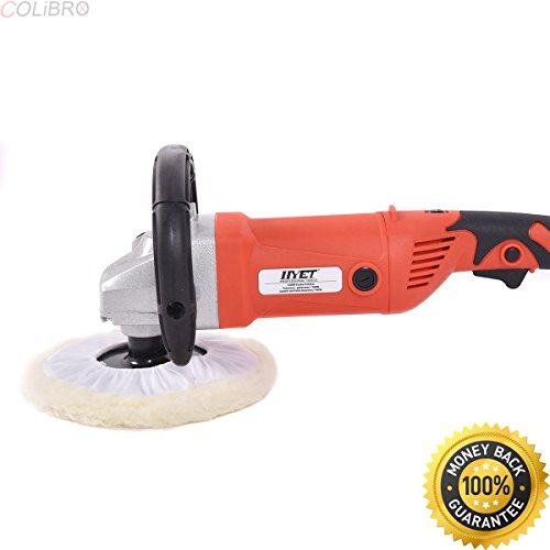 """COLIBROX--7"""" Electric 6 Variable Speed Car Polisher Buffer Waxer Sander Detail Boat w/Case. best dual action polisher for beginner. professional car polishers and buffers. car buffer walmart."""