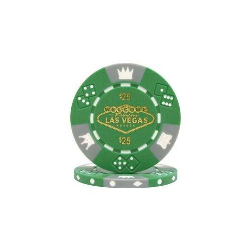 Trademark Poker Fabulous Las Vegas Tri-Color 50 Poker Chips (25-Piece), 11.5gm