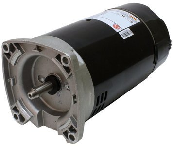 1.5 hp 3450 RPM 56Y Frame 115/230V Square Flange Pool Motor US Electric Motor # EB854 (Pacfab Stainless Steel)