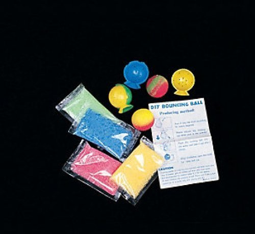 Make your own Bouncy balls - craft kit makes 12 balls(6 kits, each kit makes 2 (Rubber Ball Kit)