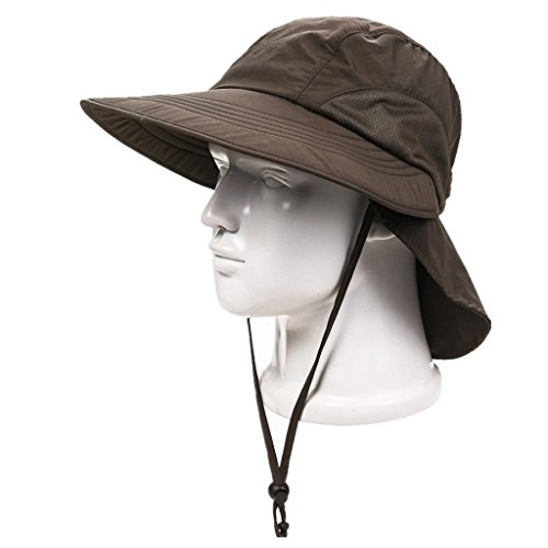 Home prefer unisex 4 long bill flap hat sun hats safari for Long bill fishing hat