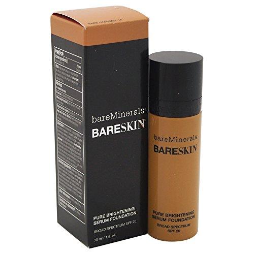 bareMinerals bareSkin Pure Brightening Serum Foundation SPF 20, Bare Caramel 14, 1 (Spf 20 Caramel)