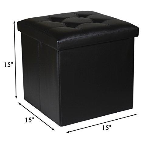 NISUNS OT02 Lether Folding Storage Ottoman Cube Foot Rest Stool Seat.15