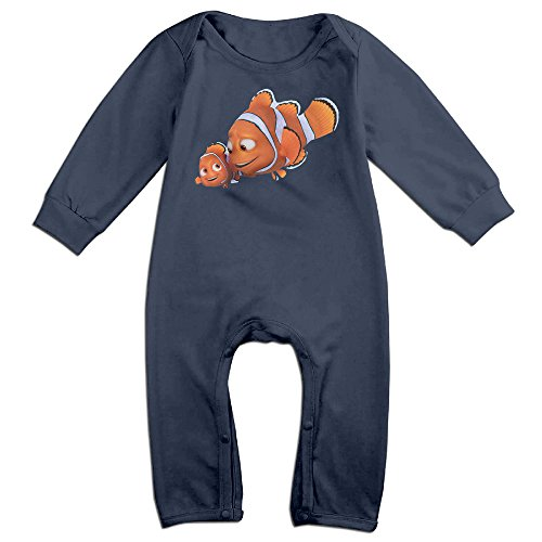 Dadada Newborn Cute Fish Long Sleeve Bodysuit 24 Months (Nemo And Marlin Costumes)