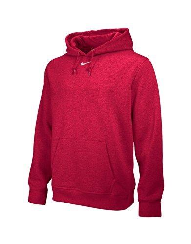Nike Team Club Fleece Hoody Scarlet/White Mens Size - Game Pant Big Up Warm