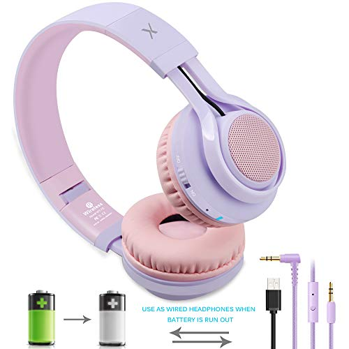 Riwbox WT-7S Bluetooth Headphones Light Up, Foldable Stero Wireless Headset with Microphone and Volume Control for PC…