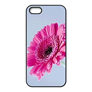 Okaycosama Funny IPhone 5,5S Cases Flower 190 Cheap for Boys, Iphone 5 Case, {Black}