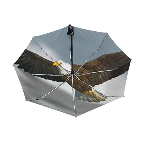 Price comparison product image American Bald Eagle Lightweight UPF 50+ Anti-UV Parasol Waterproof Windproof Reverse 3 Folds Auto Open Close Umbrella