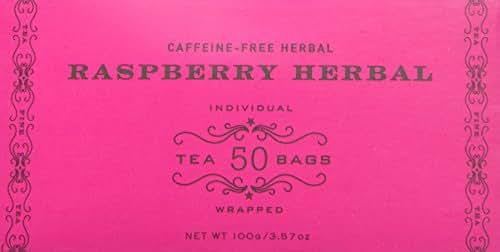 Harney & Sons Tea Bags, Raspberry Herbal, 50 Count