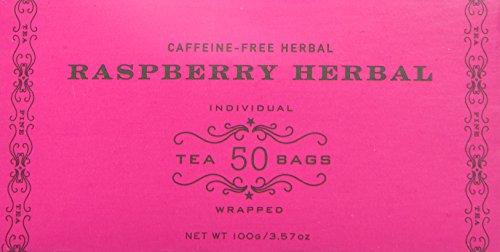 (Harney & Sons Raspberry Herbal Tea Bags - Caffeine-Free Herbal 50 Teabags per Box)