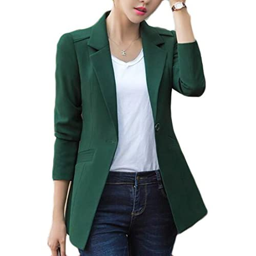 Top FLCH+YIGE Womens Slim Solid Long Sleeve One Button Blazer Jacket supplier