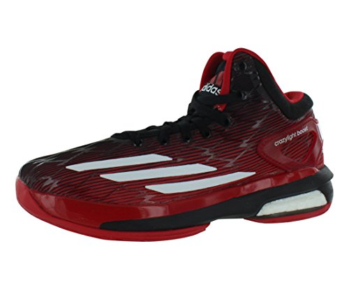 Adidas Crazy Light Boost Boys Running Shoes Size US 6, Regular Width, Color Red/Black/White