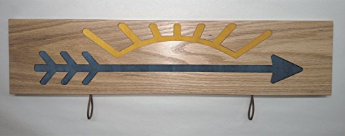 Customizable Cub Scout Arrow of Light Plaque Style #2 with Blue Arrow and Gold Ray Inlay