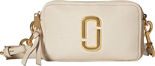 Marc Jacobs Women's The Softshot 21 Bag, Cream, Off White, One - Cowhide Marc Jacobs Leather