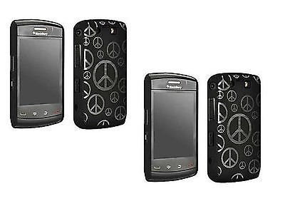 2 SETS Skins Blackberry Storm 9550 PEACE Black Smart phone Hard Cover cell (Blackberry Storm Smartphone Skin)