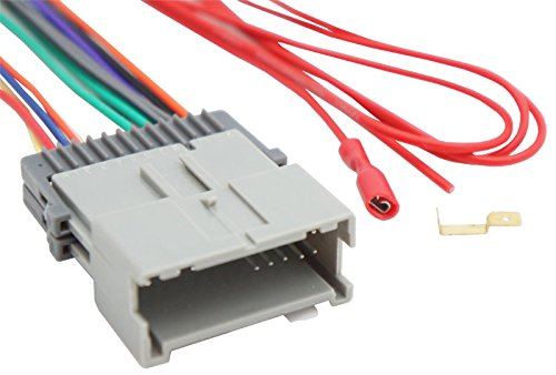 Compatible with Chevy S-10 Truck 2002-2004 Factory Stereo to Aftermarket Radio Harness Adapter
