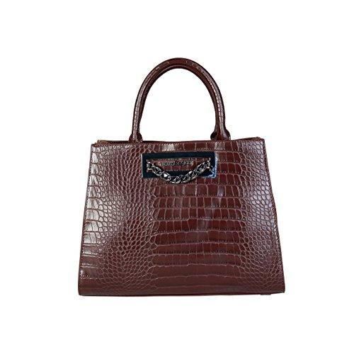 Women Brown Laura Biagiotti Handbag Designer Genuine qwq0T8ap