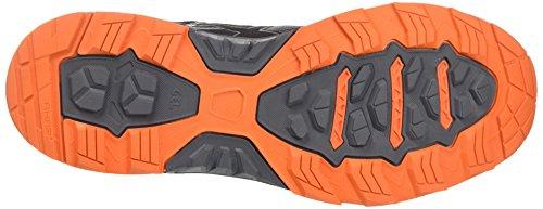 Asics Herren Gel Fujitrabuco 6 Traillaufschuhe Grau (carbonio / Nero / Arancio Caldo)