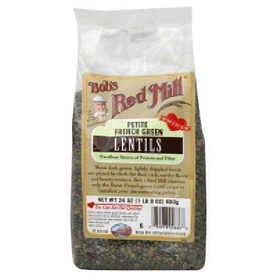 Bob's Red Mill Beans, Pet Fr Green Lentil, 24-Ounce (Pack of 2)
