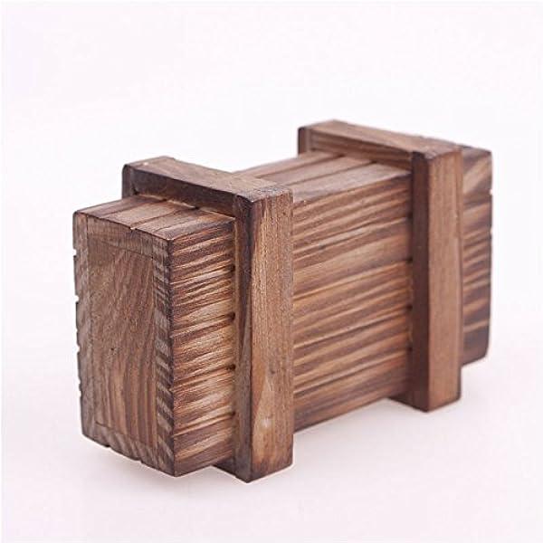 Calistouk Caja mágica de madera de regalo secreto con diseño de ...