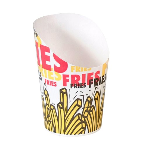 Solo GSP34-83013 Single-Sided Poly Paper French Fry Scoop...