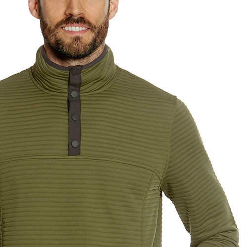 Gerry Men's ¼ Zip Ottoman Pullover (3XL, Olive Green)