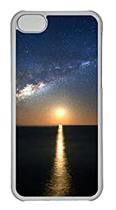 Customized iphone 5C PC Transparent Case - The Sun Down Cover