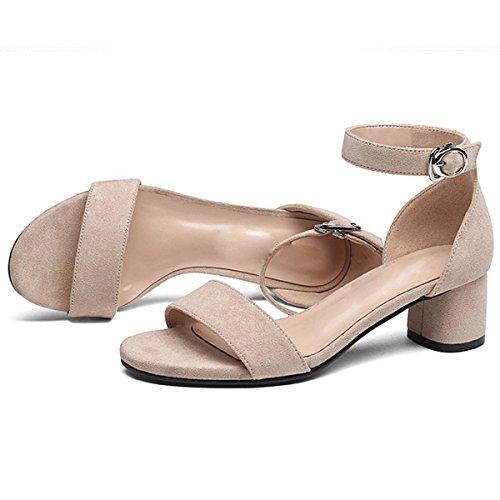 Elegante Mujer Zapatos De Tacones Banquete Simple Beige Altos Moda DKFJKI Cómodo dZ6qwYxEY