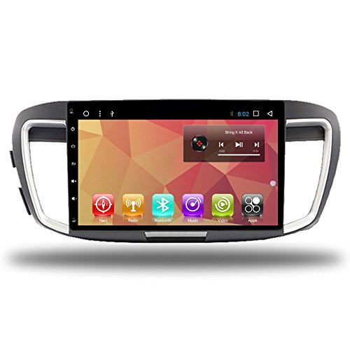 "Car-gps 10.1"" HD Touch Screen Car Android 7.1 Player Multimedia for Honda Accord 9 Navigation 2013-17 Radio Stereo AUX GPS Sat Navi Map (for Accord 9 Android 7.1 32G)"