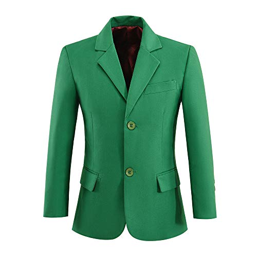 Boys Blazer Toddler Kids Suits Formal Jacket Coat Green Size 5 -