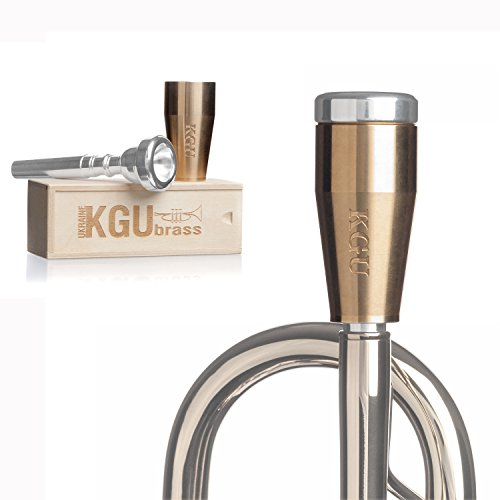 KGUBrass Custom Trumpet Mouthpiece Booster, Raw Brass - Limited Edition by KGUBrass