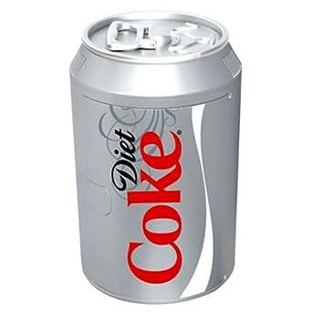 Koolatron DC10G Diet-Coke Can-Shaped 8-Can-Capacity Fridge, Silver