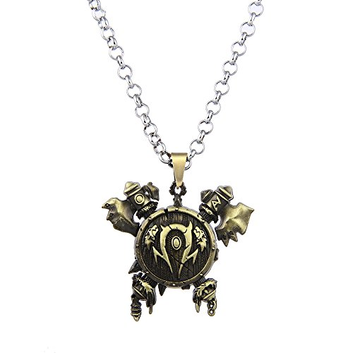 LUREME Vintage Jewelry 3D Horde Signs Necklace for Wow Fans (nl005612)