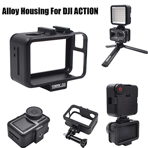 Sodoop Aluminum Alloy Protection Frame for DJI Osmo Action Camera, Protective Frame Housing Case Shell with Long Screw 1Pcs & Adapter DJI Osmo Action 4k Camera