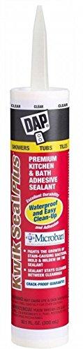 Dap 18516 12 Pack 10.1 oz. Kwik Seal Plus Premium Kitchen and Bath Adhesive Sealant, Clear by DAP