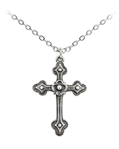 [Official Alchemy Gothic Devotion Cross Pendant Necklace] (Official Halloween Costumes)