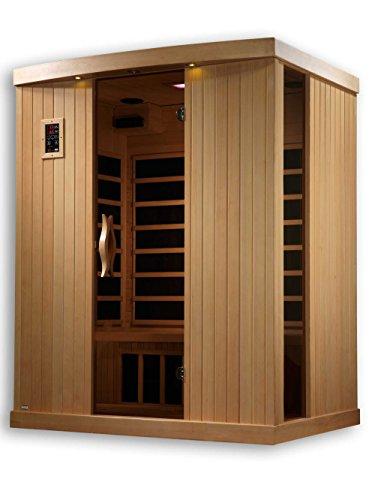Golden Designs AMZ-GDI-6354-01 Ultra Low EMF Torino 3-Person Far Infrared Sauna For Sale