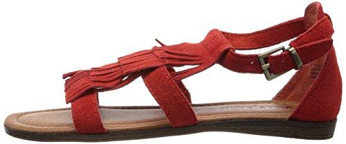 Zapatos Cuero Minnetonka poppy Ibiza De Rojo Pulsera Para Mujer 71302ppy rot BpqEwq1
