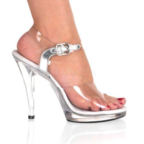Fabulicious - Sandalias de vestir para mujer transparente transparente