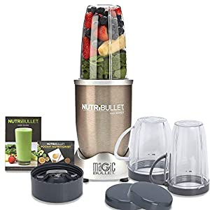 Nutribullet PRO High Speed Blender/Mixer/Smoothie Maker – 900 Watts – 12 Pcs Set;Gold
