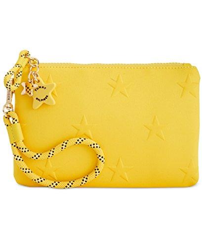 Tommy Hilfiger Womens Neoprene Stars Wristlet Handbag Yellow Small by Tommy Hilfiger