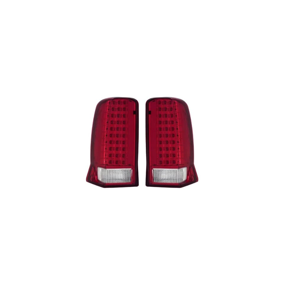 02 06 Cadillac Escalade Red/Clear LED Tail Lights (Will Not Fit EXT