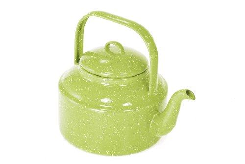 Buy graniteware coffee pot green