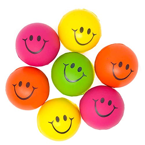 (24 Pack Smile Face Stress Balls - Squeeze Ball Squishies Toy (2 DZ))