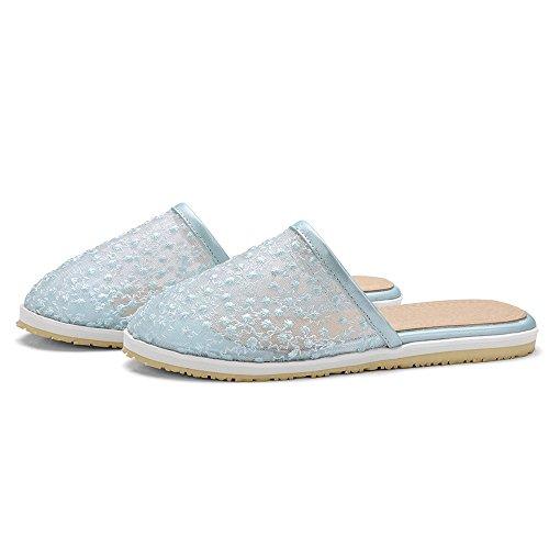 COOLCEPT Damen Mode Flach Slide Sandalen Schuhe Blue