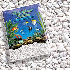 Pure Water Pebbles Nature's Ocean Aquarium Gravel Snow White Color 5lb Bag ()