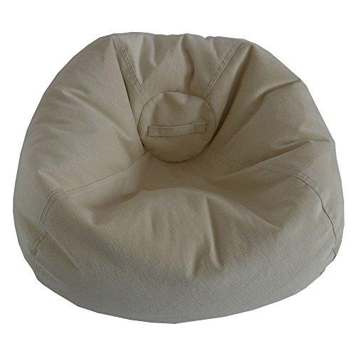 Bayou Large Bean Bag (Ace Casual Furniture Large Textured Velvet Bean Bag Chair)