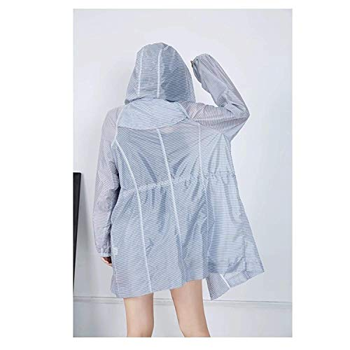 Mantello Stlie Autunno Transizione Giacca Cerniera Coulisse Donna A Con Casual Laterali Tasche Cappuccio Grazioso Colour Di Coat Giacche Righe Baggy ACBUw