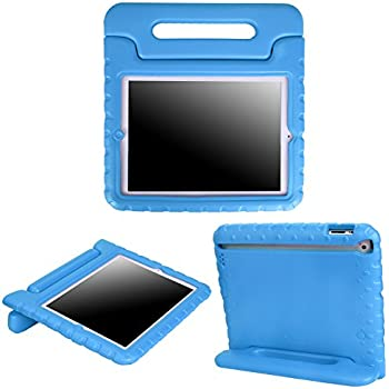 ca40fa7885 HDE Case for iPad 2 3 4 - Kids Shock Proof Heavy Duty Impact Resistant  Protective Cover Handle Stand for Apple iPad 2nd 3rd 4th Generation Tablet  (Blue)
